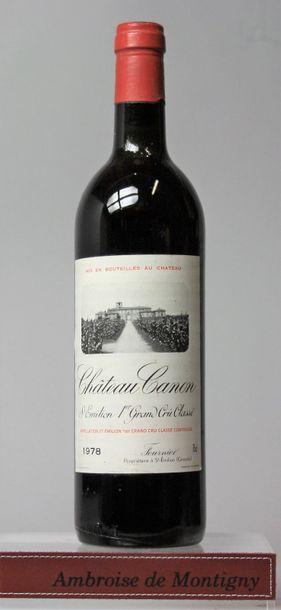 1 bouteille CHÂTEAU CANON - 1er GCC St Émilion...