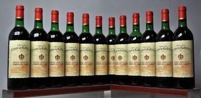 12 bouteilles CHÂTEAU CANON LA GAFFELIÈRE...