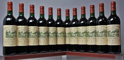 12 bouteilles CHÂTEAU CARBONNIEUX - CC Pessac...