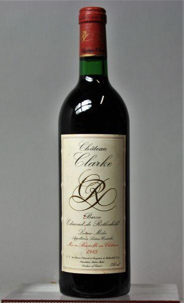 1 bouteille CHÂTEAU CLARKE - Moulis Médoc...