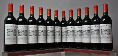 12 bouteilles CHÂTEAU CORBIN - St Émilion...
