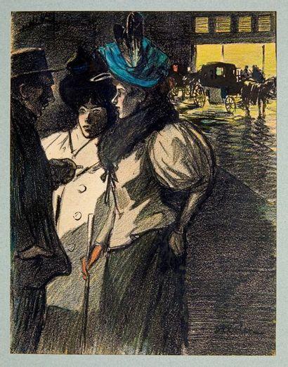 Dessin original «Nocturne», pour Le Rire,...
