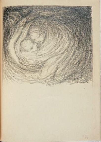 HUGO (V.) Cinq poèmes. Paris, Pelletan, 1902, 2 volumes in-4°, maroquin prune, couronne...