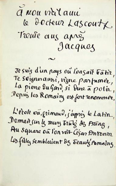 LARGUIER (L.) Jacques. Paris, Société du Mercure de France, 1907, grand in-8°, demi-maroquin...
