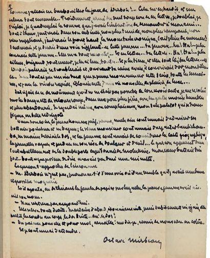 MIRBEAU (O.) Dans l'antichambre. Paris, A. Romagnol, [1905], in-8°, maroquin prune,...
