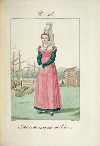 LANTÉ (L.-M.) - GATINE (G.-J.) Costumes des femmes du pays de Caux... À Paris, Chez...