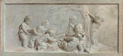 ÉCOLE FRANÇAISE du XVIIIe siècle, entourage de Piat Joseph SAUVAGE (1744-1818)