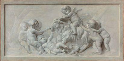 ÉCOLE FRANÇAISE du XVIIIe siècle, entourage de Piat Joseph SAUVAGE (1744-1818) Allégorie...