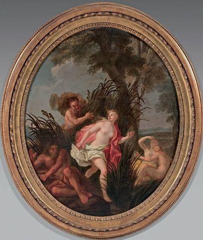 Entourage de Louis BOULLOGNE (1654-1733) Persée délivrant Andromède Pan et Syrinx...