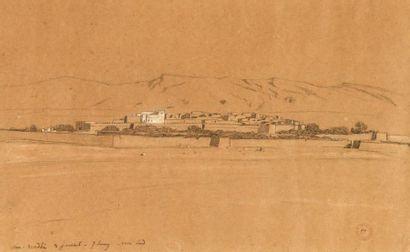 Eugène FROMENTIN (1820-1876) Aïn-Madhi, 1853 Dessin au crayon noir et à l'estompe...