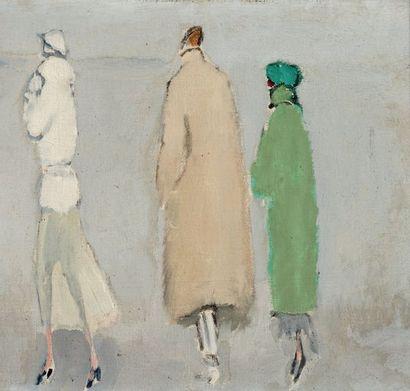 Kees VAN DONGEN (1877-1968) New arrivals, vers 1922-1925 Huile sur toile, signée...