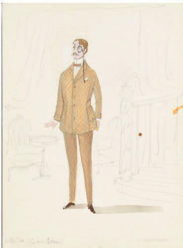 MALCLES (Jean-Denis) Ensemble de 10 dessins en couleurs originaux. 24 à 36 x 14 à...