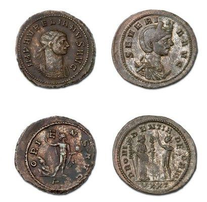 Lot: Antoninien: 8 exemplaires. Aurélien - Séverine - Tacite (2 ex.) - Probus -...