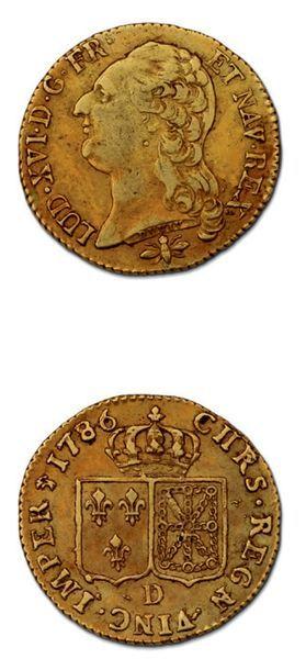 Louis d'or au buste nu. 1786. Lyon. D. 1707. TTB.