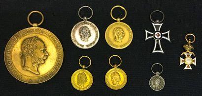 Autriche - Lot de sept miniatures: ordre...