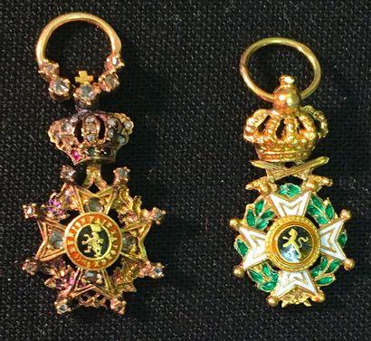Belgique - Ordre de Léopold, lot de deux...