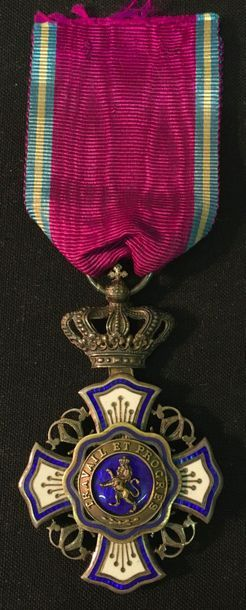 Belgique - Ordre du Lion, croix de chevalier...