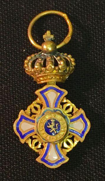 Belgique - Ordre du Lion, miniature d'une...