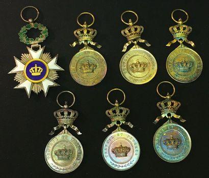 Belgique - Ordre de la Couronne, fondé en...