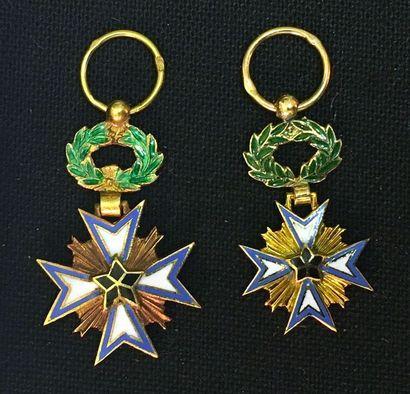 Bénin - Ordre de l'Étoile noire, deux miniatures...