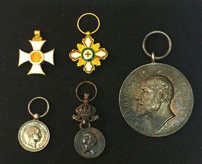 Bulgarie - Lot de cinq: ordre de Saint-Alexandre,...