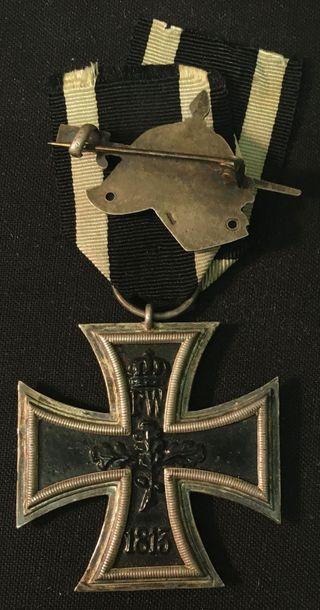 Allemagne, royaume de Prusse - Croix de fer 1914, IIe classe en fer laqué et argent,...