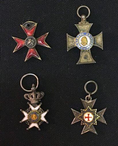 Allemagne, anciens états, lot de quatre miniatures:...