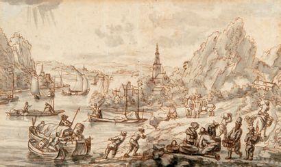 ÉCOLE FLAMANDE du XVIIIe siècle (fin du XVIIe ou début du XVIIIe siècle)