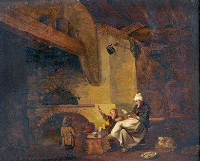 ÉCOLE FRANÇAISE de la fin du XVIIIe siècle, entourage de BILCOCQ Femme et enfants...