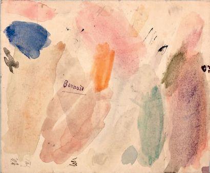 Pierre BONNARD (1867-1947) Corbeille de fruits, vers 1930 Dessin au crayon noir,...