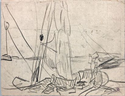 Pierre BONNARD (1867-1947) - Paysage du midi, vers 1914, recto Dessin au crayon noir,...