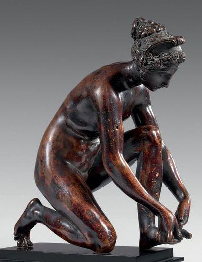 Ponce JACQUIO (vraisemblablement Rethel, vers 1515 - Paris, 1570) La tireuse d'épine...