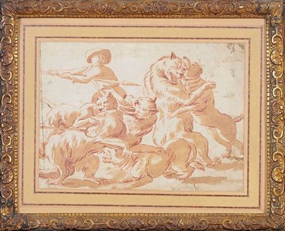 ÉCOLE FLAMANDE de la fin du XVIIe siècle, d'après TEMPESTA