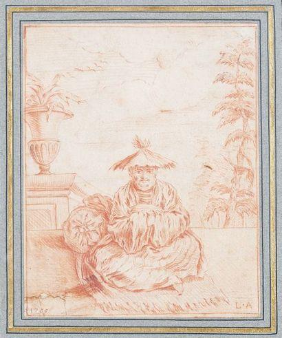 ÉCOLE FRANÇAISE du XVIIIe siècle, d'après WATTEAU