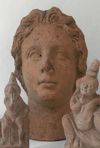 Tête votive représentant le portrait d'une...