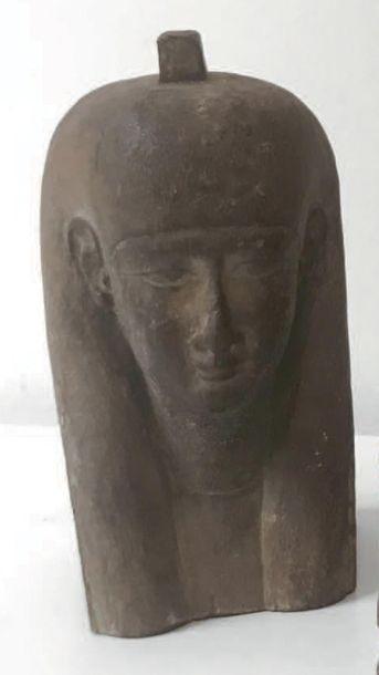 Buste de Ptah-Sokar Osiris coiffé de la perruque...