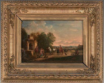 ÉCOLE FLAMANDE du XIXe siècle, dans le goût de Philip WOUVERMANS