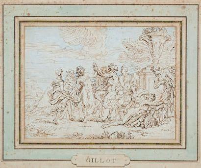 ÉCOLE FRANÇAISE du XVIIIe siècle, dans le goût de Claude GILLOT