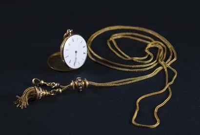 -Sautoir articulé en or jaune (750 millièmes)...