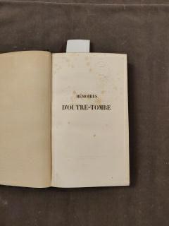 CHATEAUBRIAND (François-René de) Memories from beyond the grave. Paris, Eugène et...