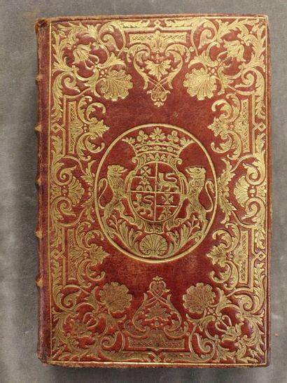 RELIURES AUX ARMES. - Ensemble de 6 volumes in-8, tous reliés en maroquin. [BLONDEL...