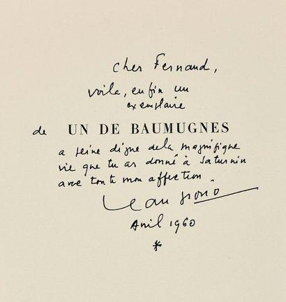 GIONO (Jean) Ensemble de 4 volumes, un grand in-4 et 3 in-8. - ANGELO. [Paris], Gallimard...