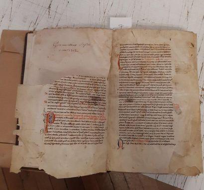 PRISCIEN. [Institutionum grammaticarum libri] Manuscript. Late 18th century. 139...
