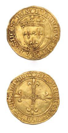 Écu d'or au soleil. Rouen. 3,34 g. D. 544....
