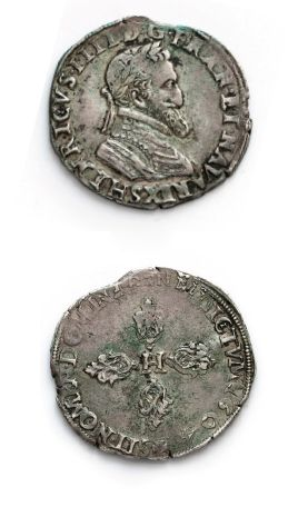 HENRI IV (1589-1610) Demi franc. 1604. Troyes....