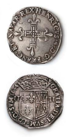 Quart d'écu de Navarre. 1604. Saint-Palais....