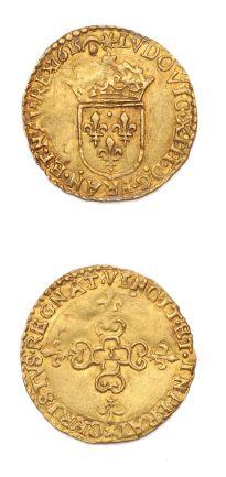 Écu d'or au soleil. 1615. Nantes. D. 1282....