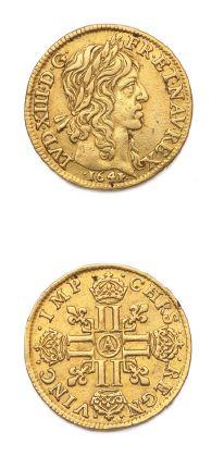 Louis d'or de Warin. 1641. Paris. D. 1298....