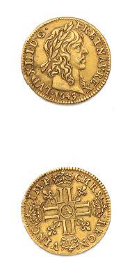 Demi louis d'or de Warin. 1643. Paris. D....