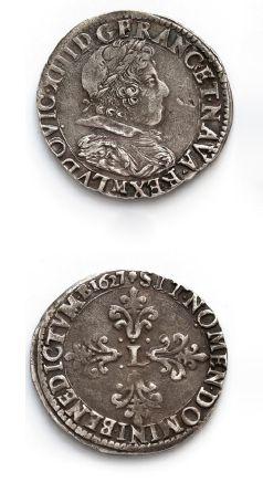 Demi franc, 10e type. 1627. Toulouse. D....